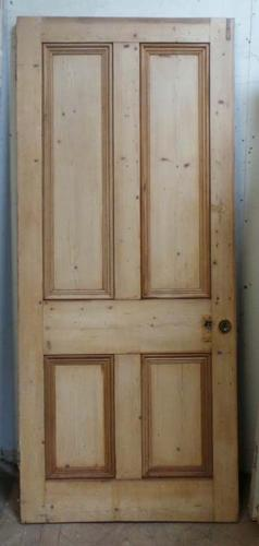 DB0474 LARGE VICTORIAN PANELLED PINE DOOR