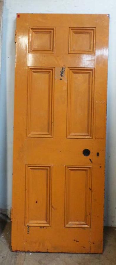 DB0481 LOVELY VICTORIAN PINE 'GEORGIAN' STYLE 6 PANEL DOOR