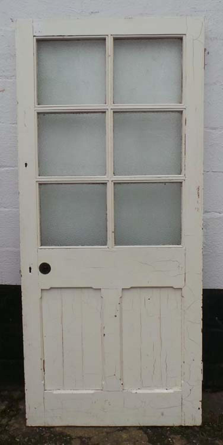 DB0501 LOVELY VICTORIAN GOTHIC CHURCH PANELLED PINE DOOR