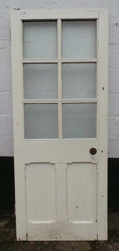 DB0504 LOVELY VICTORIAN GOTHIC CHURCH PANELLED PINE DOOR