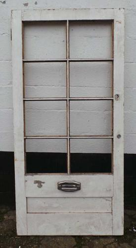 DB0505 BEAUTIFUL VICTORIAN PANELLED PINE DOOR FOR GLAZING
