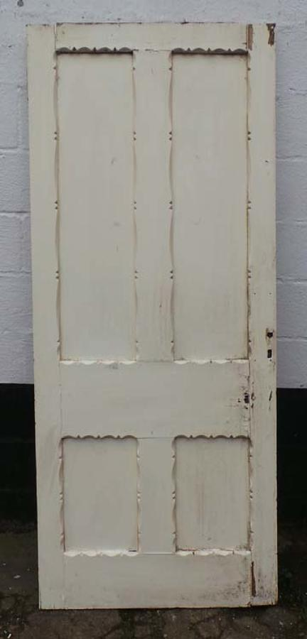 DB0506 LOVELY VICTORIAN PANELLED PINE GOTHIC STYLE DOOR