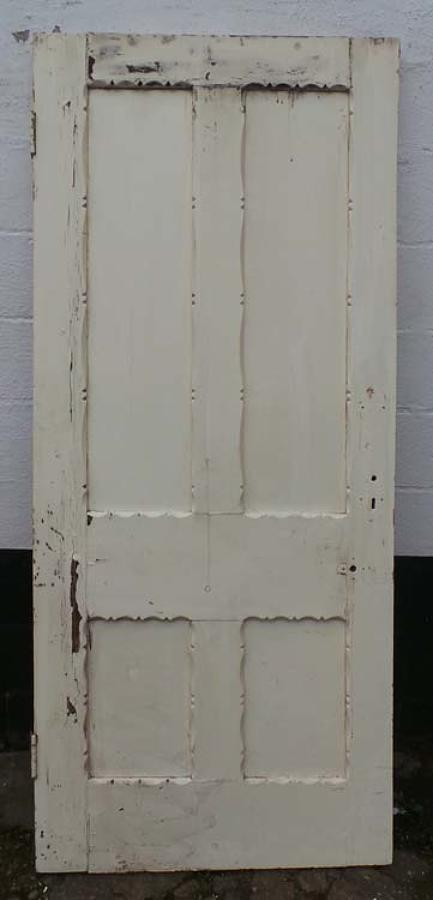 DB0507 LOVELY VICTORIAN PANELLED PINE GOTHIC STYLE DOOR