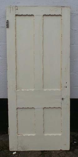 DB0508 LOVELY VICTORIAN PANELLED PINE GOTHIC STYLE DOOR