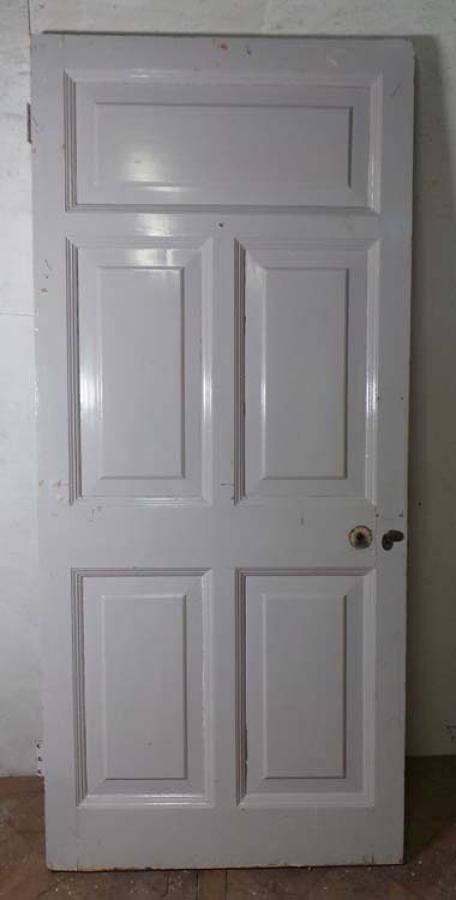 DB0513 LOVELY VICTORIAN PANELLED PINE DOOR