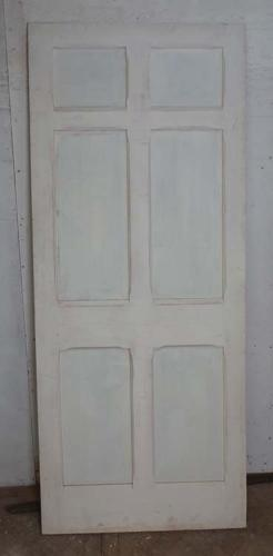 DB0518 LOVELY LARGE VICTORIAN PANELLED PINE GOTHIC STYLE DOOR
