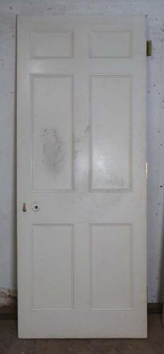 DB0524 LOVELY VICTORIAN PANELLED PINE DOOR