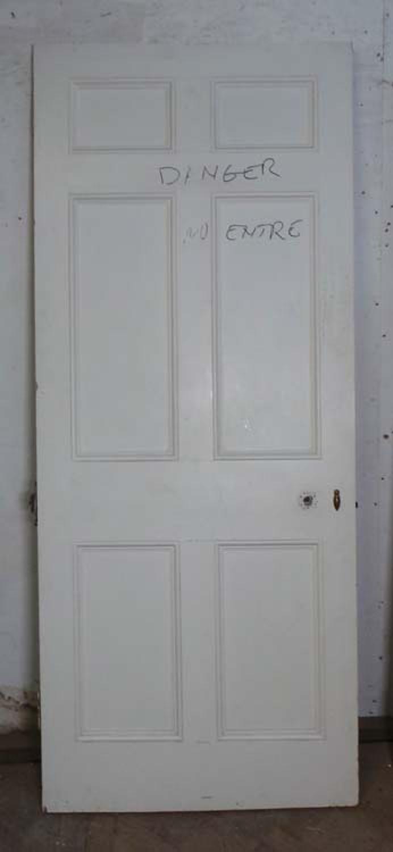DB0525 LOVELY VICTORIAN PANELLED PINE DOOR