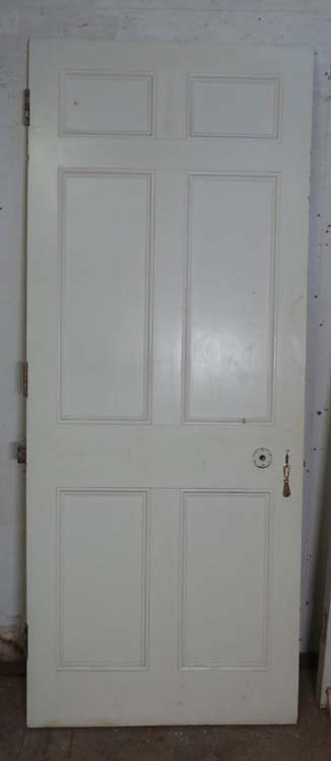 DB0527 LOVELY VICTORIAN PANELLED PINE DOOR