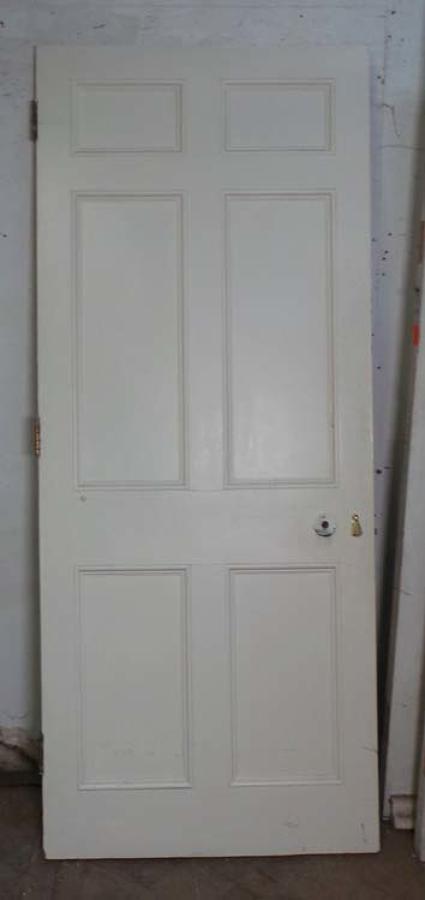 DB0528 LOVELY VICTORIAN PANELLED PINE DOOR