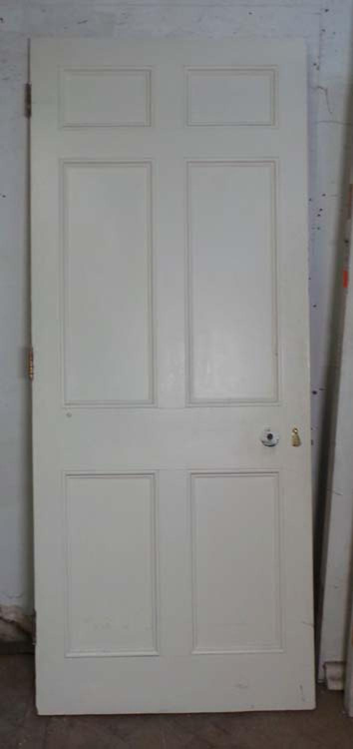 DB0528 LOVELY VICTORIAN PANELLED PINE DOOR