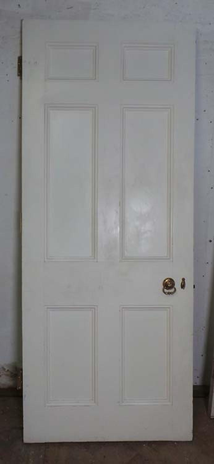 DB0531 LOVELY VICTORIAN PANELLED PINE DOOR