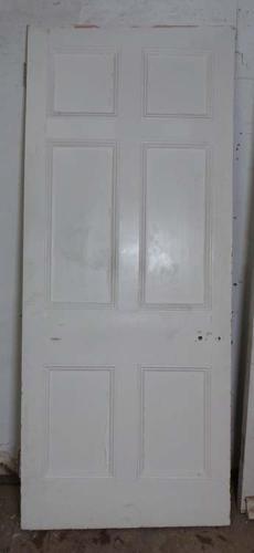 DB0532 LOVELY VICTORIAN PANELLED PINE DOOR