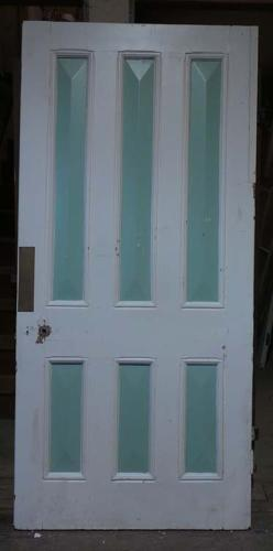 DB0535 LOVELY VICTORIAN SIX PANELLED PINE DOOR
