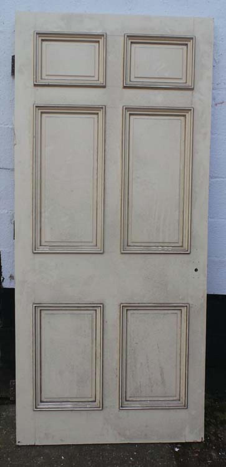 DB0539 LOVELY VICTORIAN SIX PANELLED PINE DOOR