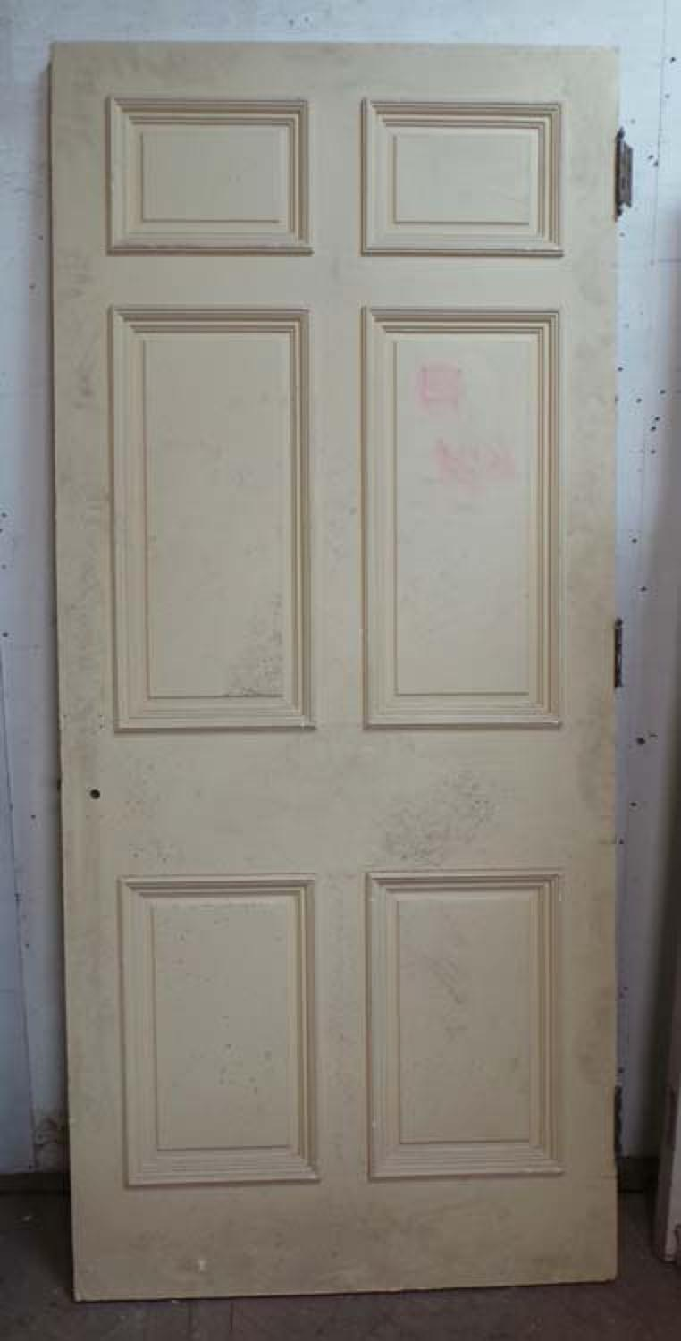 DB0542 LOVELY VICTORIAN SIX PANELLED PINE DOOR