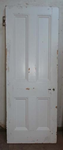 DB0544 A TRADITIONAL VICTORIAN PANELLED PINE DOOR