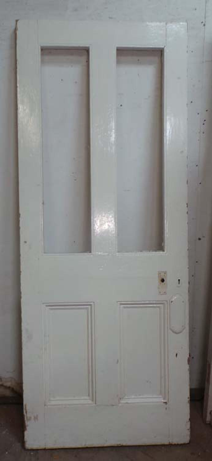 DB0545 A TRADITIONAL VICTORIAN PANELLED PINE DOOR
