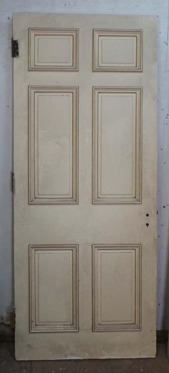 DB0546 A TRADITIONAL VICTORIAN PANELLED PINE DOOR