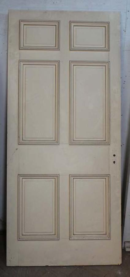 DB0547 A TRADITIONAL VICTORIAN PANELLED PINE DOOR
