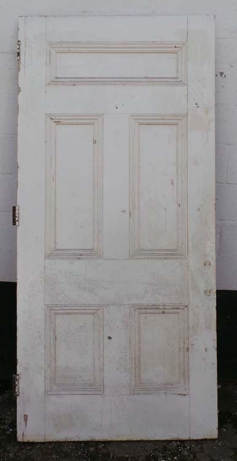 DB0549 A TRADITIONAL VICTORIAN PANELLED PINE DOOR