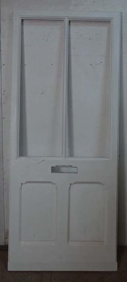DB0555 A CLASSIC VICTORIAN GOTHIC PANELLED PINE DOOR