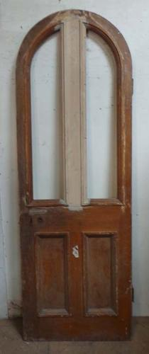 DB0562 FANTASTIC TALL VICTORIAN PINE ARCHED TOP DOOR