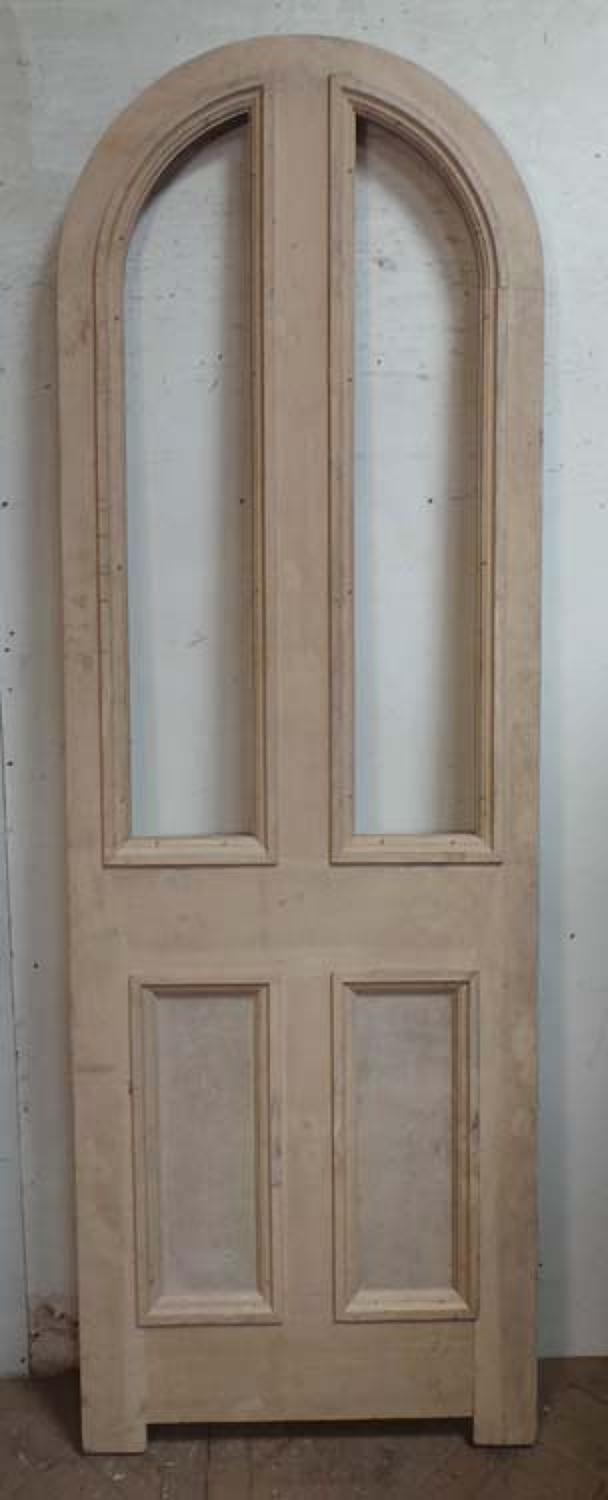 DB0563 FANTASTIC TALL VICTORIAN PINE ARCHED TOP DOOR