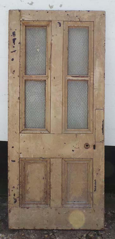 DB0565 UNUSUAL GEORGIAN PINE GLAZED DOOR