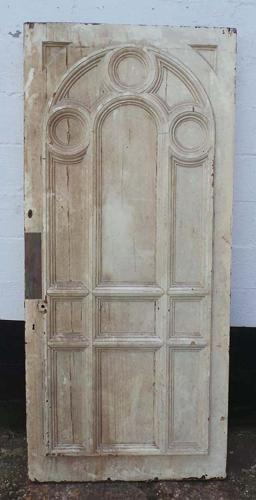 DB0566 A FABULOUS LARGE HIGH VICTORIAN PANELLED PINE DOOR