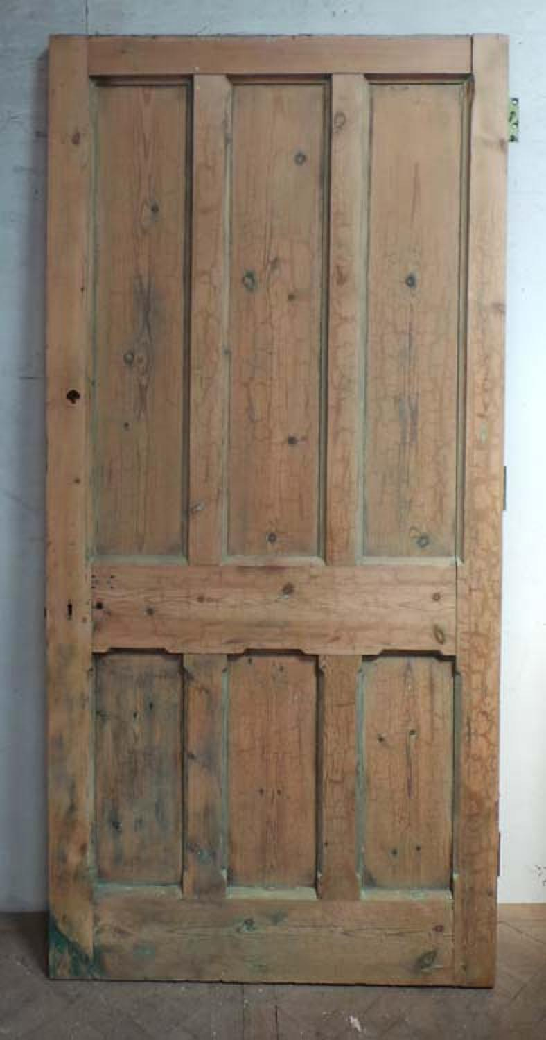 DB0571 HIGH VICTORIAN LARGE PANELLED PINE DOOR
