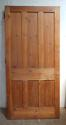 DB0571 HIGH VICTORIAN LARGE PANELLED PINE DOOR - picture 2