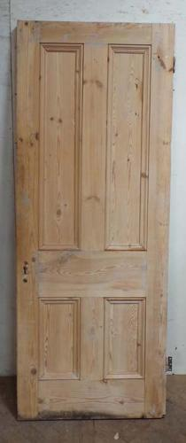 DB0573 LOVELY VICTORIAN PINE FOUR PANELLED DOOR