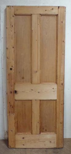 DB0575 LOVELY VICTORIAN PANELLED PINE DOOR