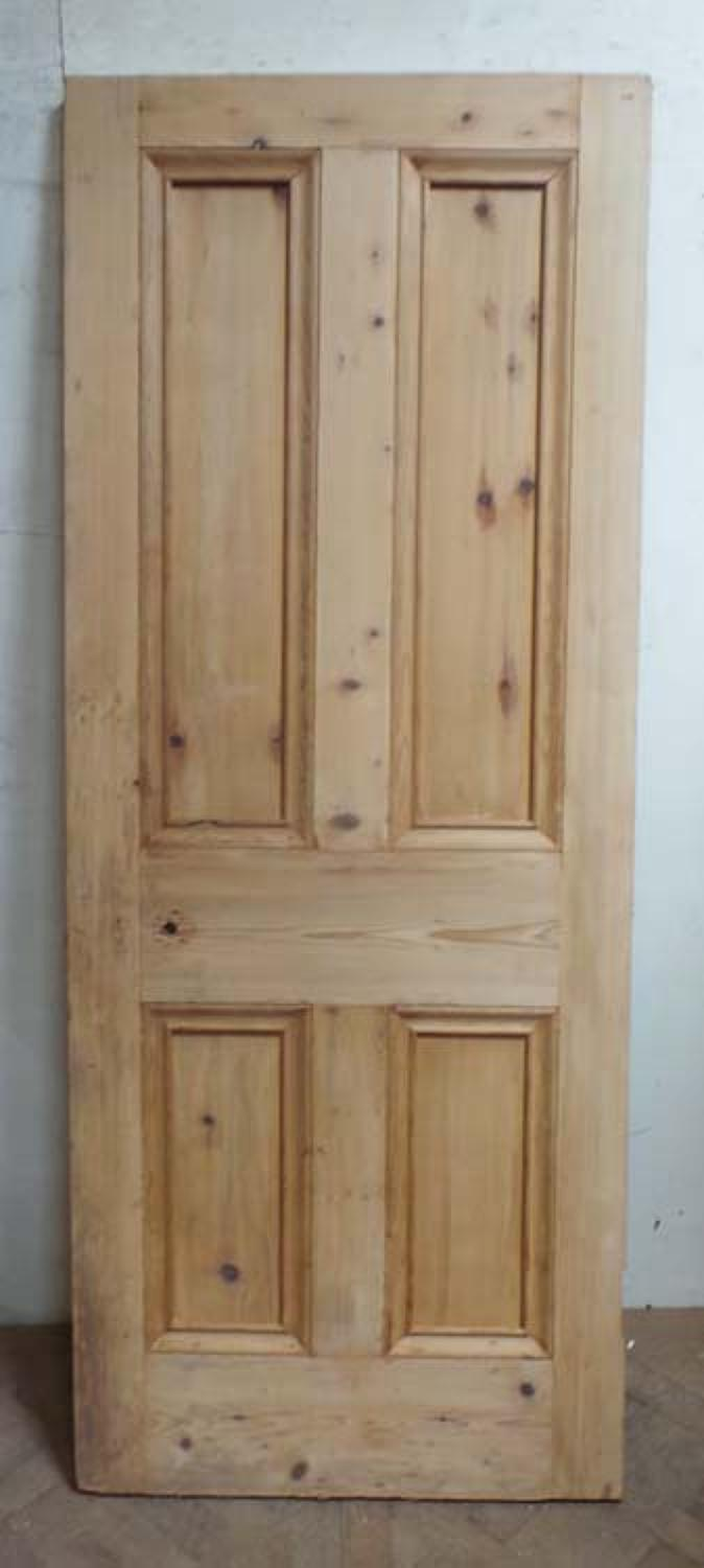 DB0580 LOVELY VICTORIAN PANELLED PINE DOOR