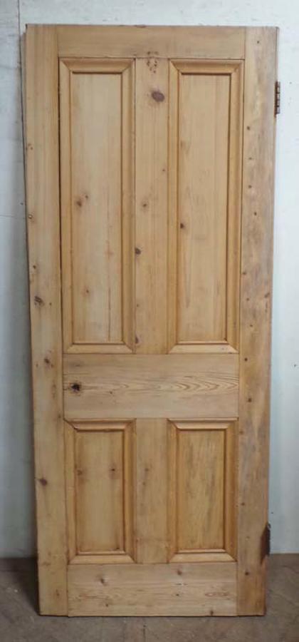 DB0581 LOVELY VICTORIAN PANELLED PINE DOOR