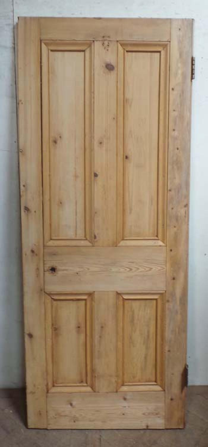 DB0581 LOVELY VICTORIAN PANELLED PINE DOOR