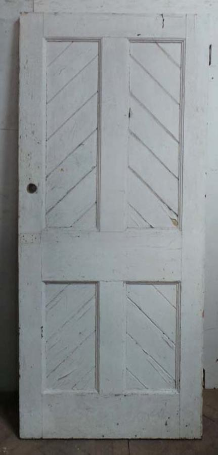 DB0582 LOVELY LATE VICTORIAN GOTHIC PANELLED PINE DOOR