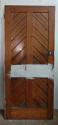 DB0582 LOVELY LATE VICTORIAN GOTHIC PANELLED PINE DOOR - picture 2