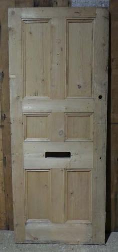 DB0587 STUNNING VICTORIAN PINE PANELLED DOOR
