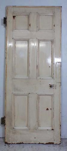 DB0590 LOVELY VICTORIAN SIX PANELLED PINE DOOR