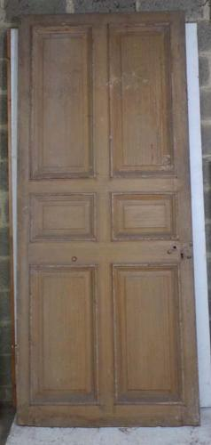 DB0591  LOVELY VICTORIAN LARGE SIX PANELLED PINE DOOR