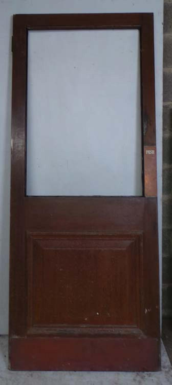 DB0592 EDWARDIAN SOLID MAHOGANY VESTIBULE DOOR FOR GLAZING
