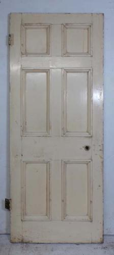 DB0595 LOVELY VICTORIAN SIX PANELLED PINE DOOR