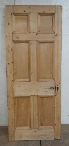 DB0599 LOVELY VICTORIAN SIX PANELLED PINE DOOR