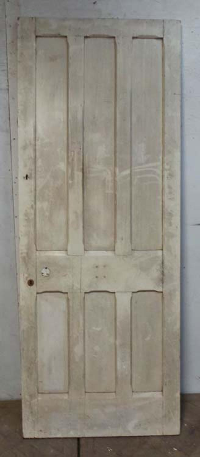 DB0601 HIGH VICTORIAN LARGE PANELLED OAK DOOR