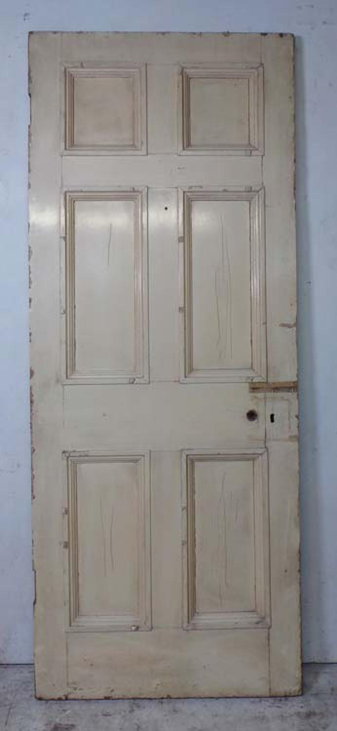 DB0604 LOVELY VICTORIAN SIX PANELLED PINE DOOR