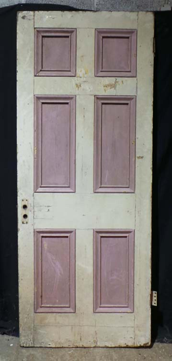 DB0608 LOVELY VICTORIAN SIX PANELLED PINE DOOR