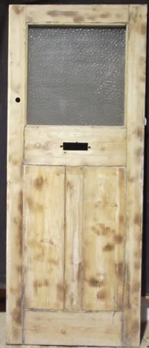 DE0161An Edwardian, Pine Front Door