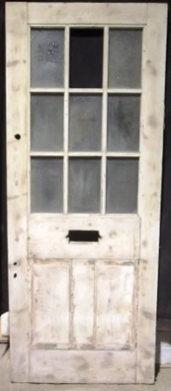 de0172 A Georgian Pine Glazed Front Door